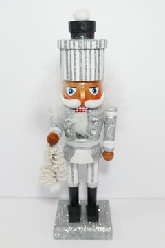 Kurt Adler Silver Gift Nutcracker - Alternate List Image