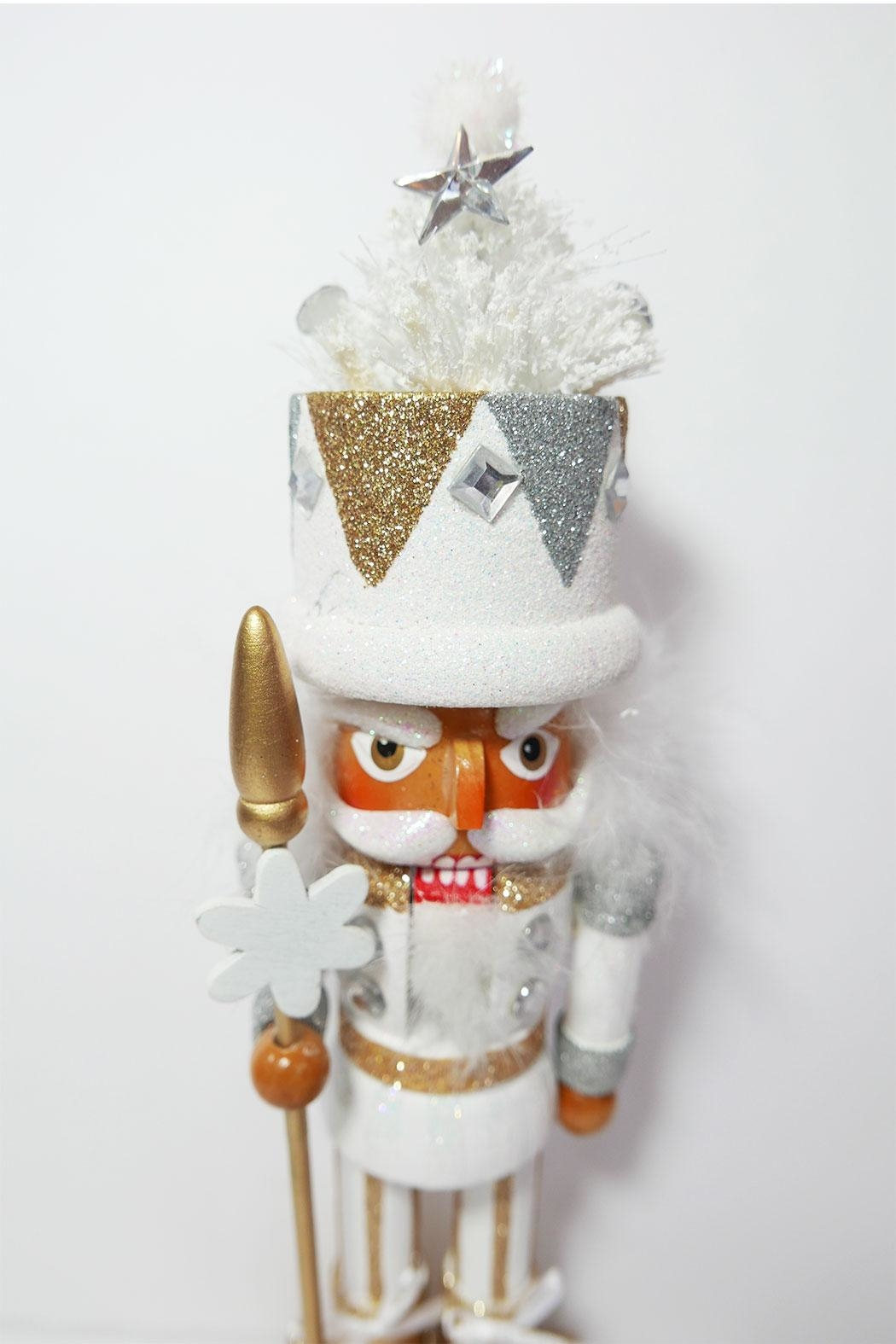 Kurt Adler White Tree Nutcracker - Back Cropped Image