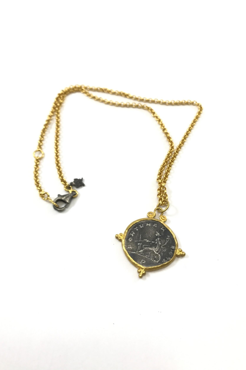 Kurtulan 24k coin pendant from colorado by slate gray gallery kurtulan 24k coin pendant front cropped image aloadofball Image collections