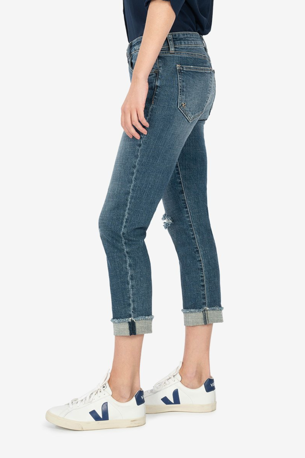 KUT Amy Crop Straight Leg Roll up - Front Full Image