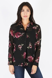 KUT Black Floral Blouse - Product Mini Image