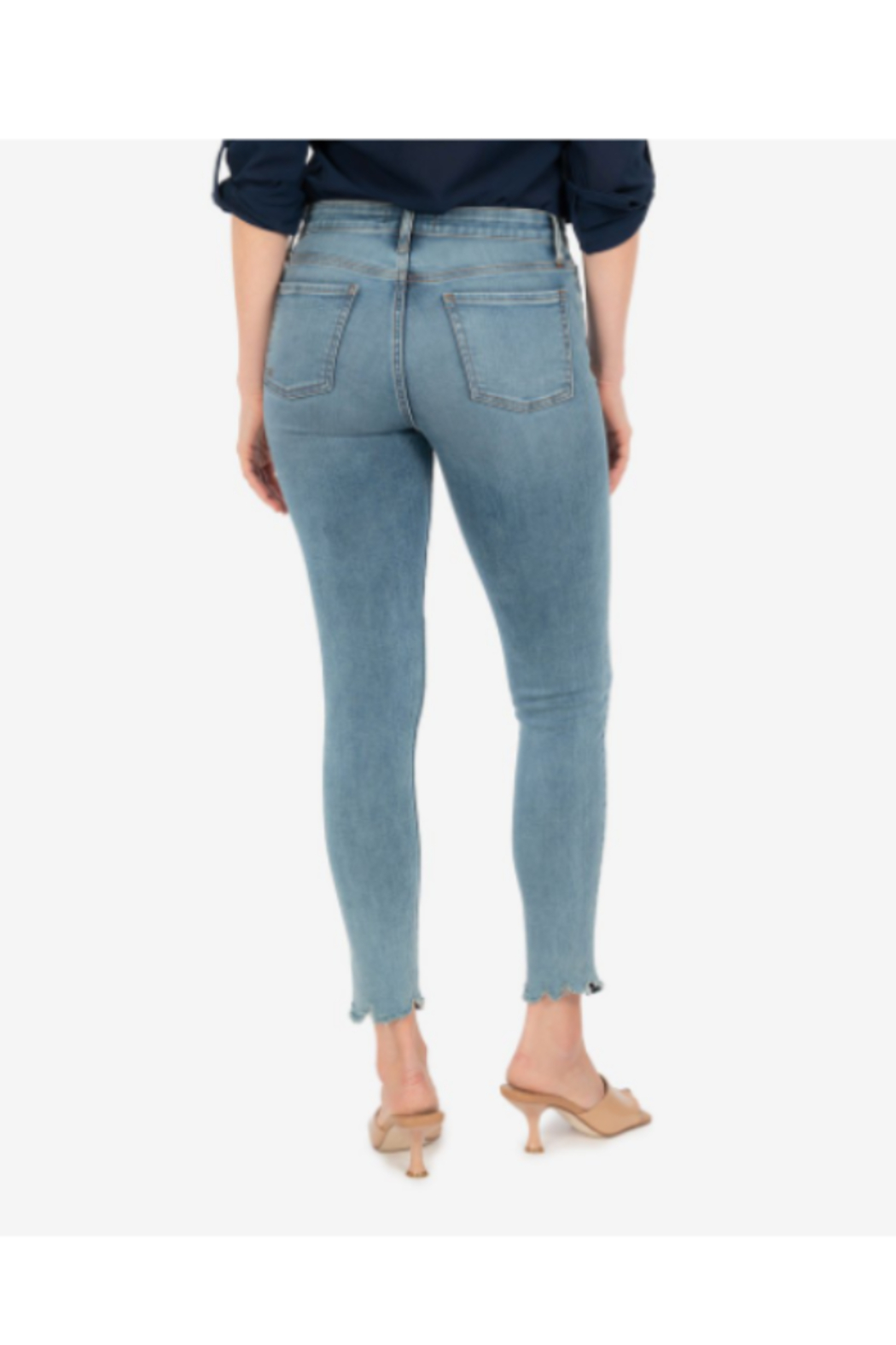 KUT Connie High Rise Fab Ab Ankle - Side Cropped Image