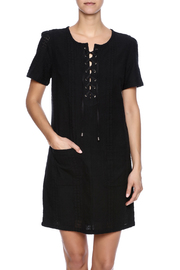 KUT Eyelet Lace Up Dress - Product Mini Image