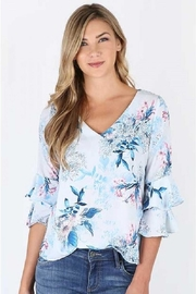 KUT Floral Rufflesleeve Top - Product Mini Image