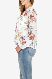 KUT from the Cloth Kut from the Kloth Becca Floral Tassel Tie Blouse - Side cropped