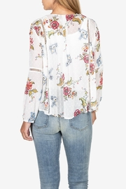 KUT from the Cloth Kut from the Kloth Becca Floral Tassel Tie Blouse - Front full body