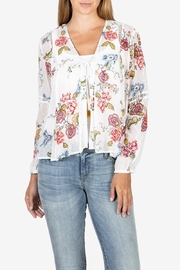 KUT from the Cloth Kut from the Kloth Becca Floral Tassel Tie Blouse - Front cropped
