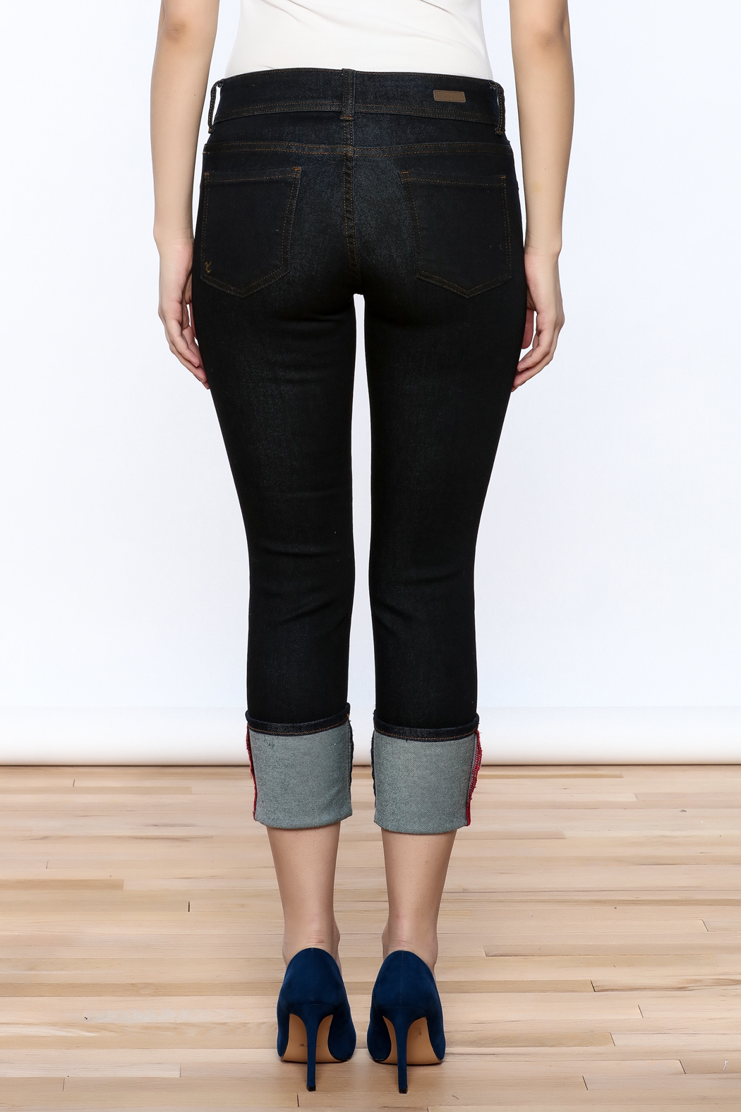 Kut from the Kloth Cameron Skinny Jeans - Back Cropped Image