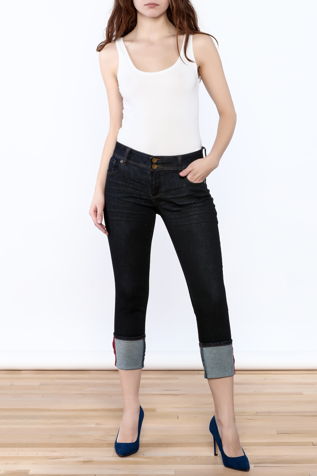 Kut from the Kloth Cameron Skinny Jeans - Front Full Image