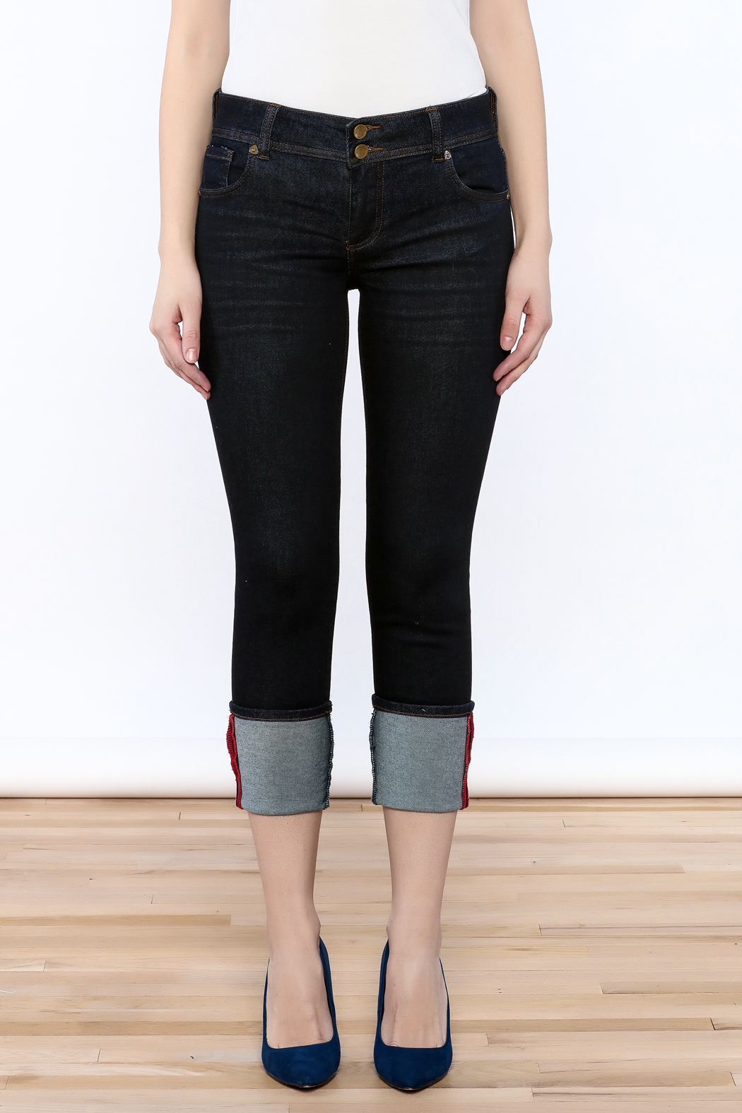 Kut from the Kloth Cameron Skinny Jeans - Side Cropped Image