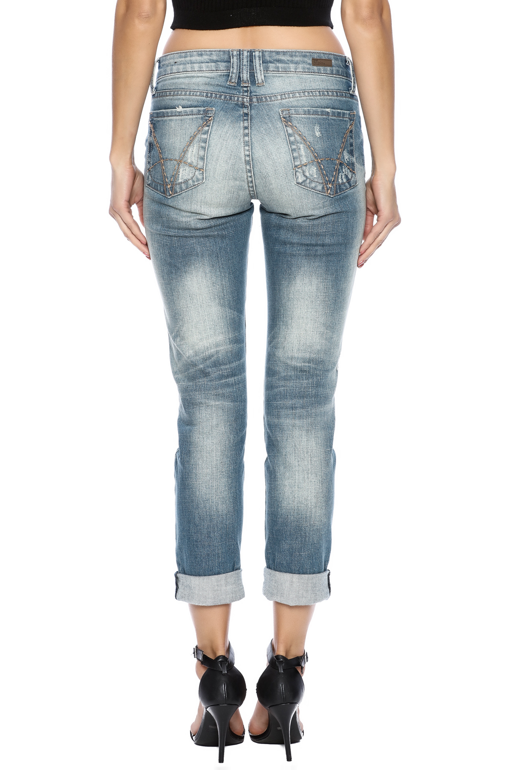 Kut from the Kloth Distressed Boyfriend Jean - Back Cropped Image