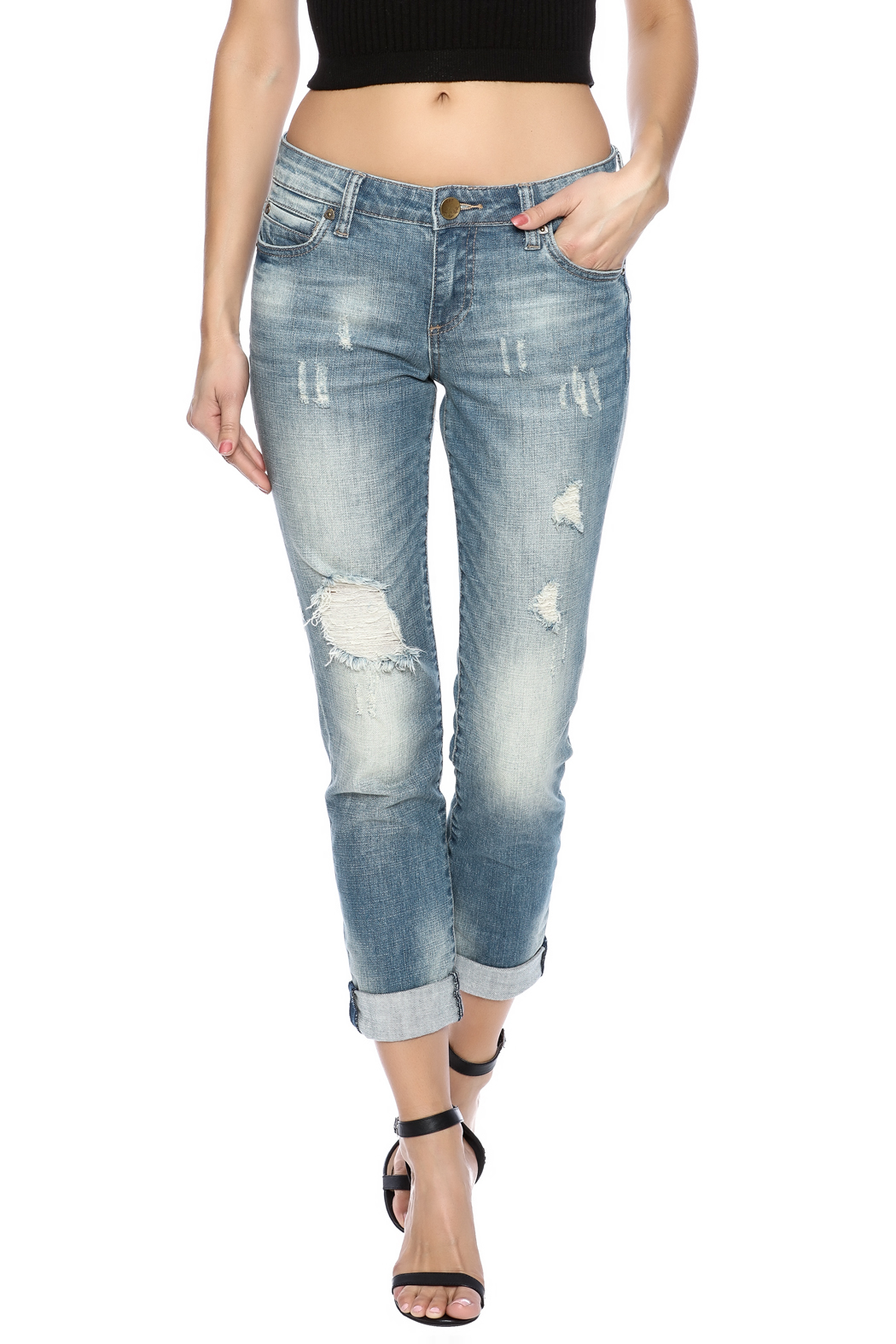 Kut from the Kloth Distressed Boyfriend Jean - Main Image