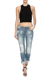Kut from the Kloth Distressed Boyfriend Jean - Front full body