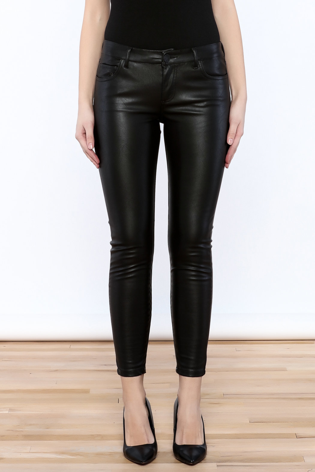 Kut from the Kloth Faux Leather Pant - Side Cropped Image