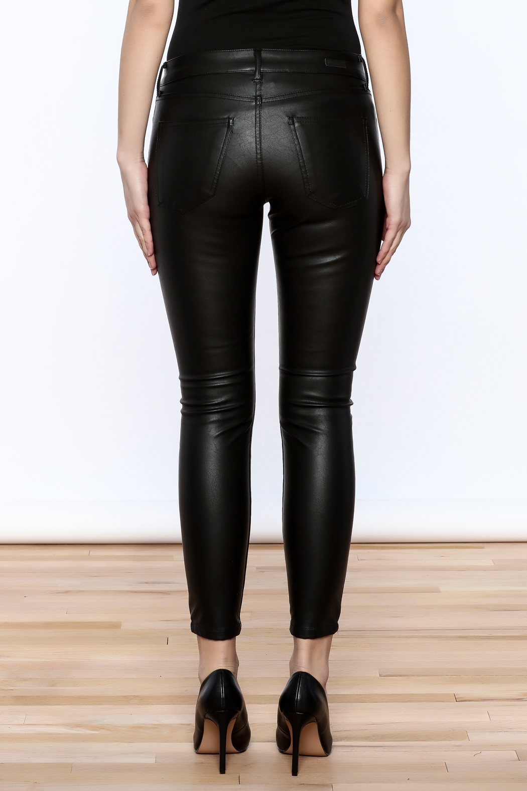 Kut from the Kloth Faux Leather Pant - Back Cropped Image