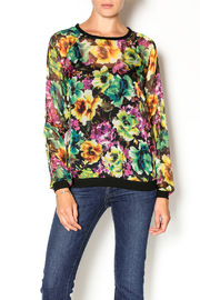 Kut from the Kloth Floral Sheer Top - Product Mini Image