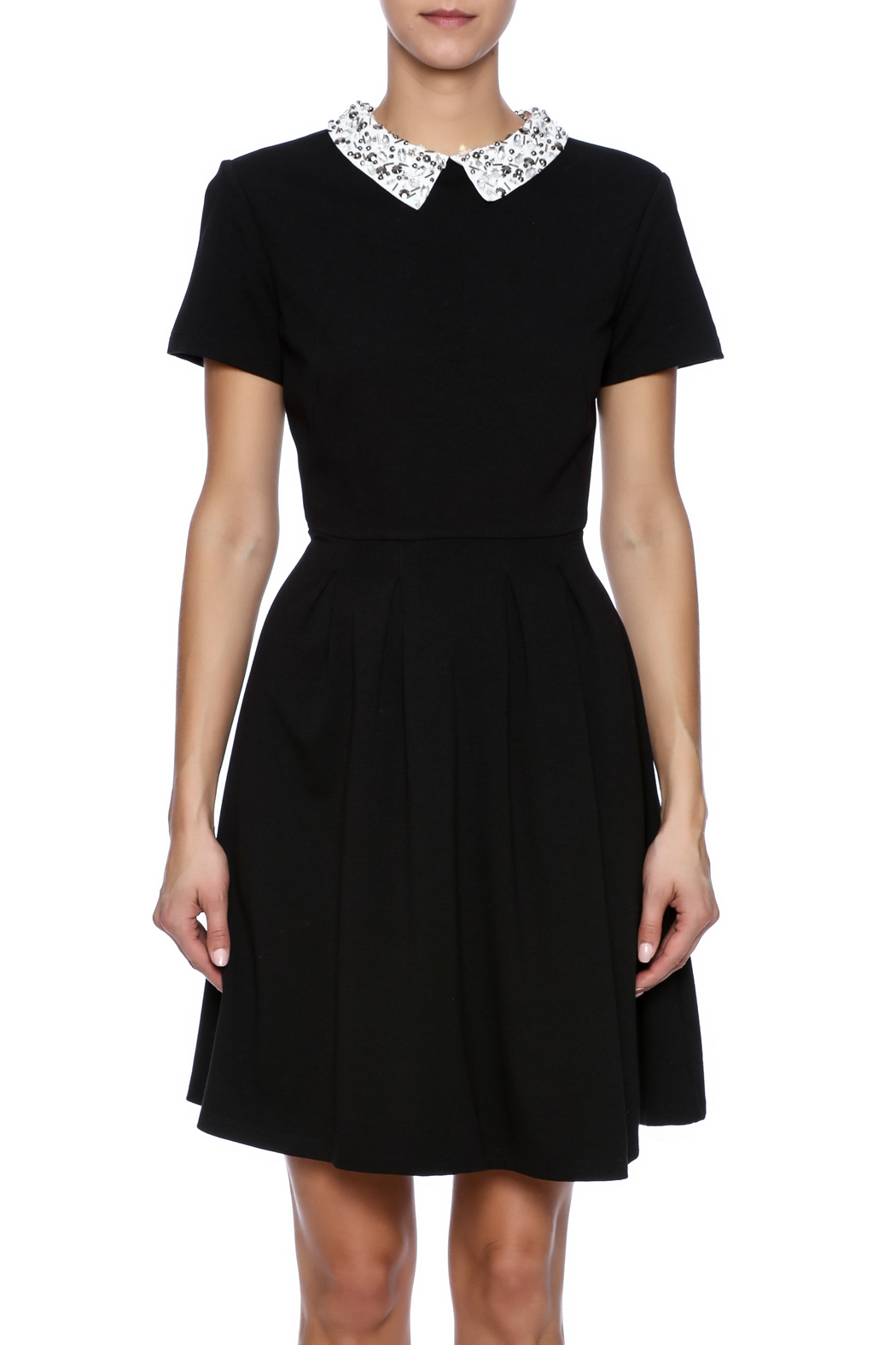 Kut from the Kloth Gem Collar Dress - Side Cropped Image