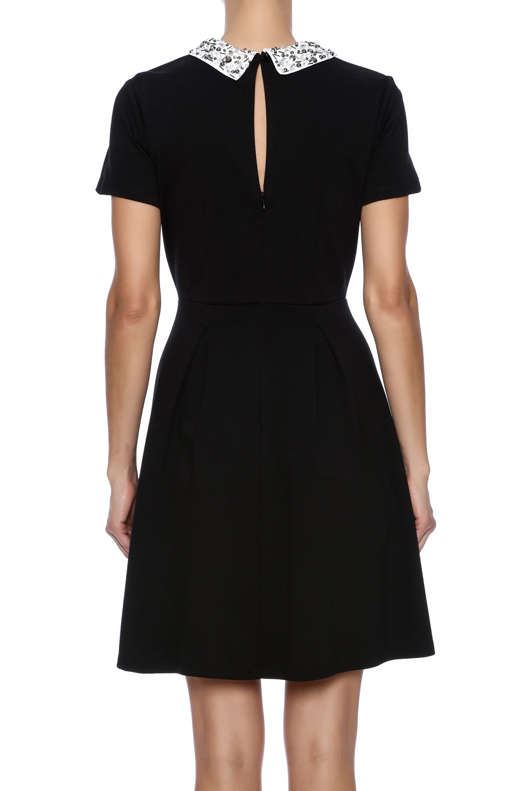 Kut from the Kloth Gem Collar Dress - Back Cropped Image