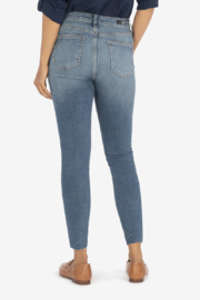 Kut from the Kloth High Rise Connie Ankle Skinny - Evolution with Medium Wash - Product Mini Image