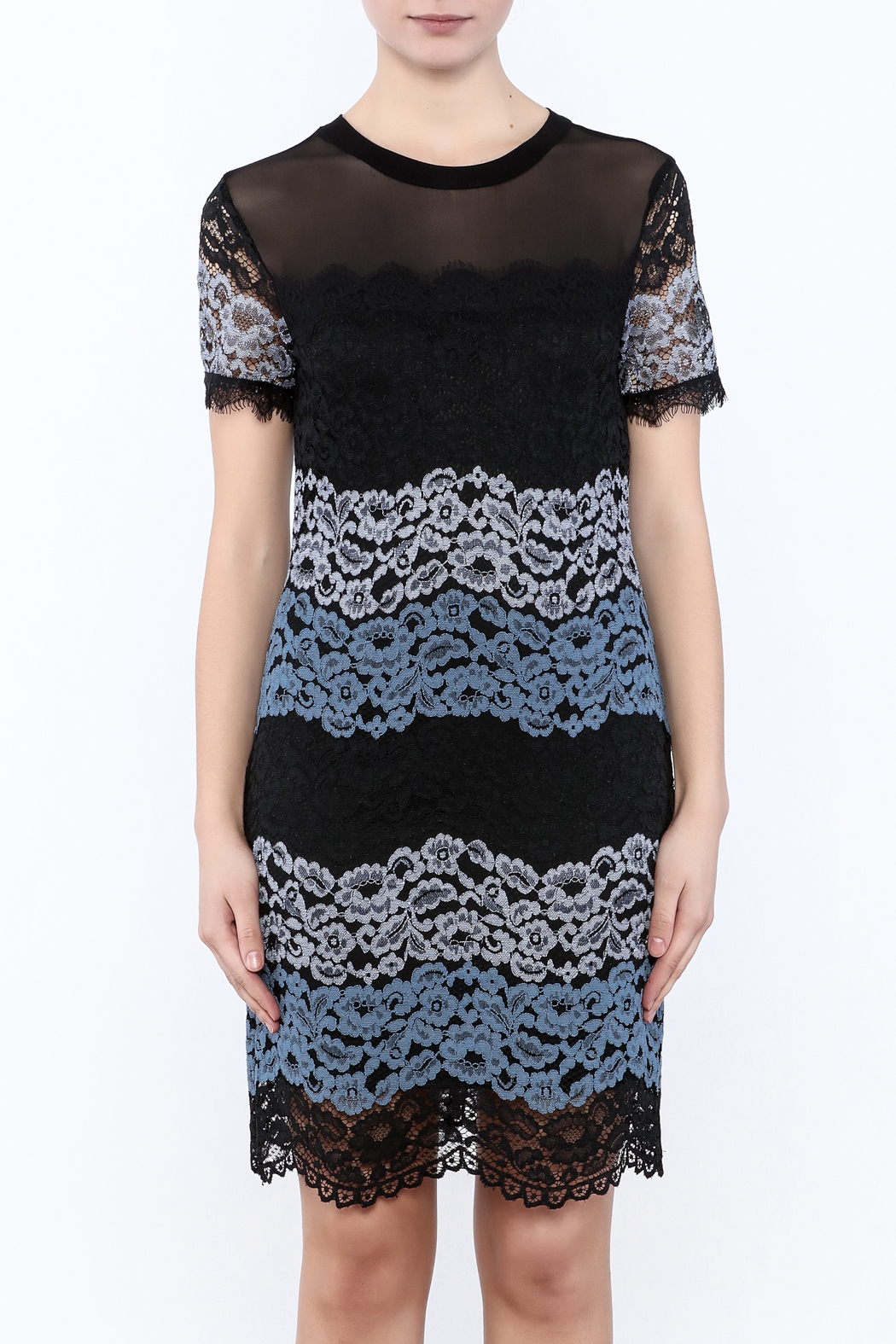 Kut from the Kloth Lace Color Block Dress - Side Cropped Image