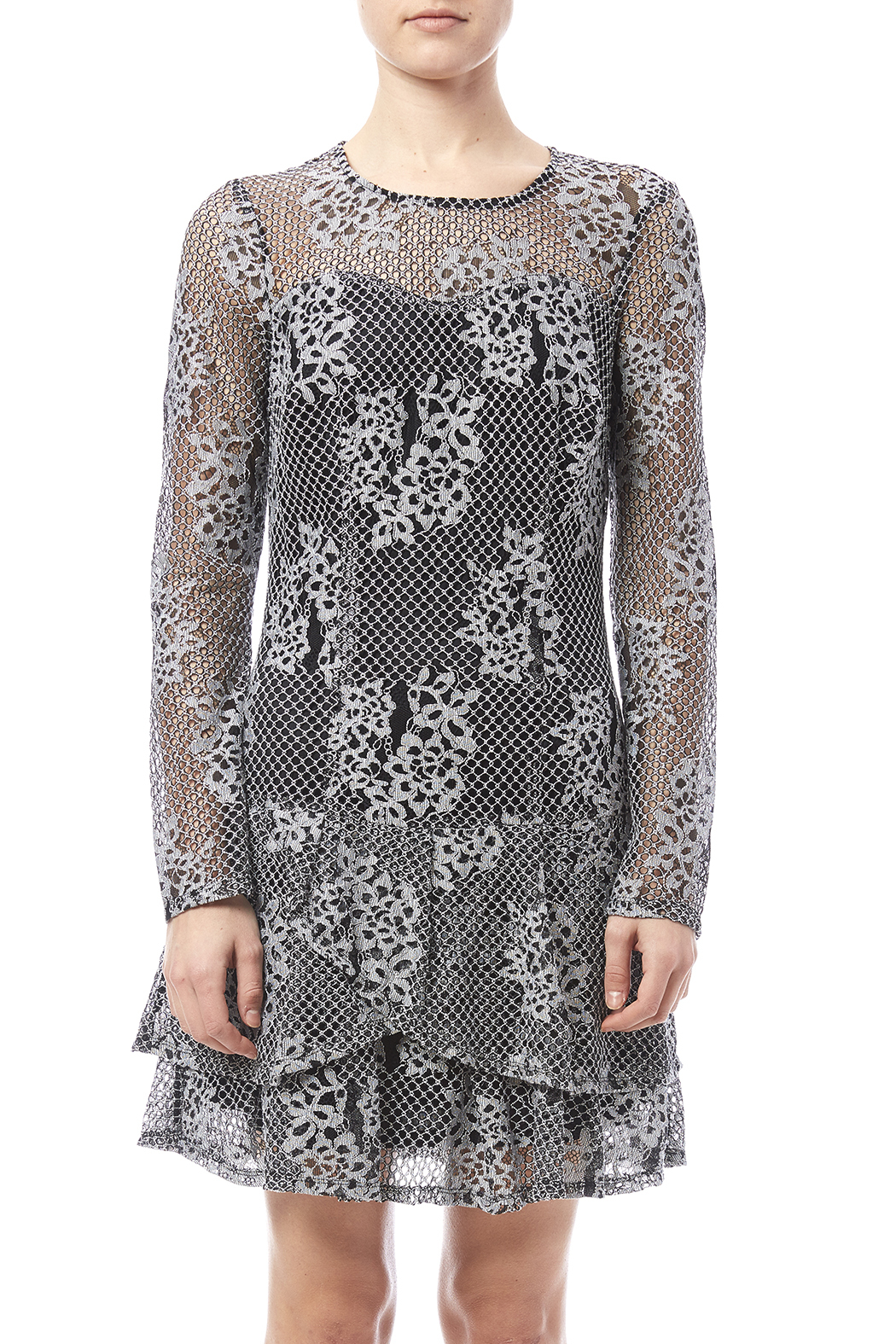 Kut from the Kloth Lace Flare Dress - Side Cropped Image