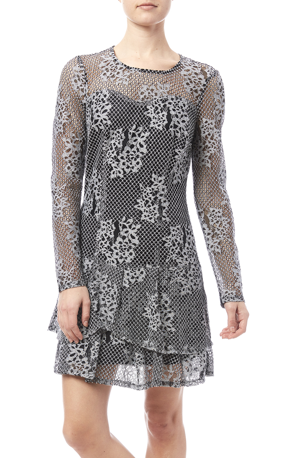 Kut from the Kloth Lace Flare Dress - Main Image