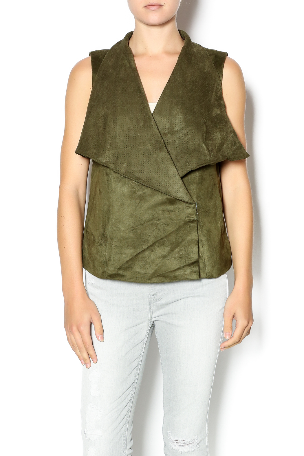 4f8855cc0ee37f Kut from the Kloth Perforated Drape Vest from Arkansas by Harrison s ...