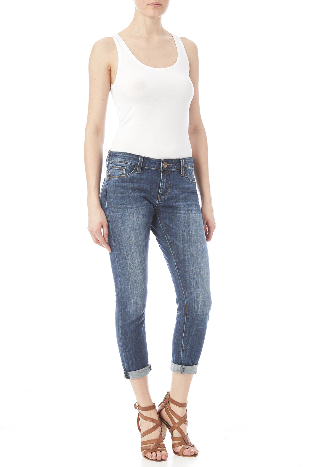 Kut from the Kloth Slim Boyfriend Jean - Front Full Image