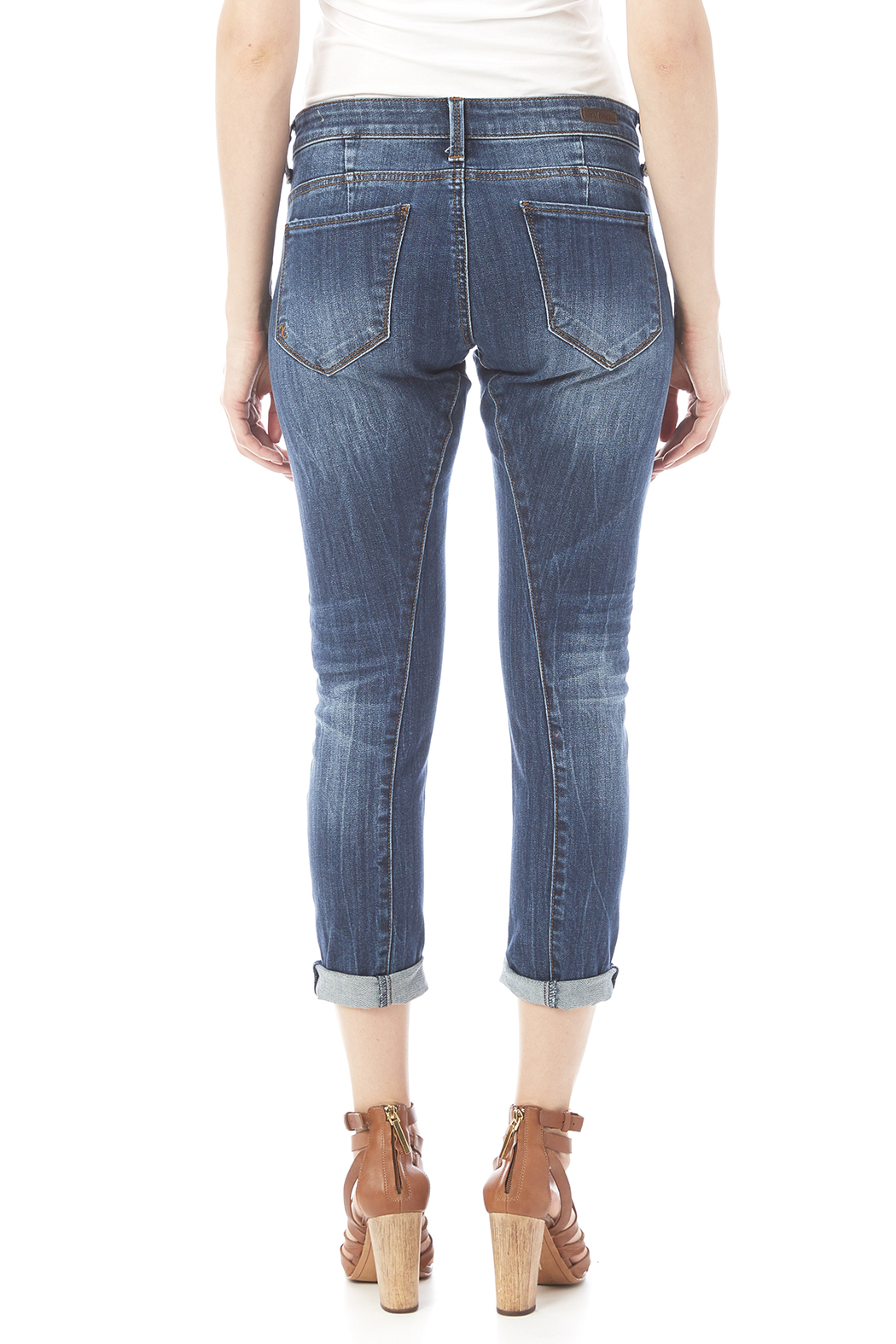 Kut from the Kloth Slim Boyfriend Jean - Back Cropped Image
