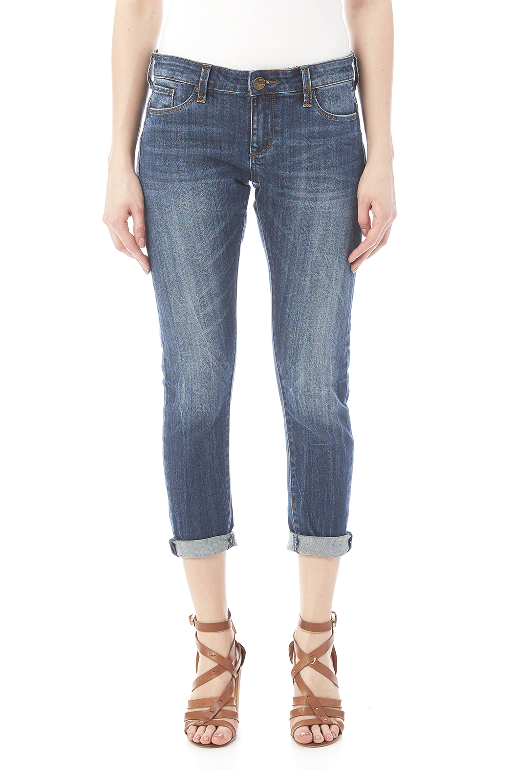 Kut from the Kloth Slim Boyfriend Jean - Side Cropped Image