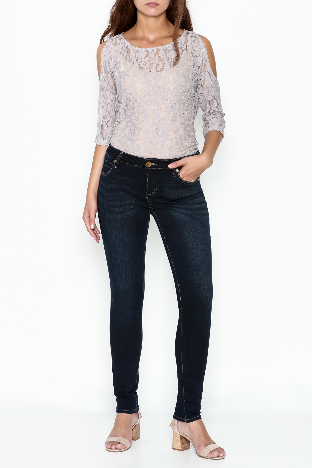 Kut from the Kloth Toothpick Skinny Denim Jeans - Side Cropped Image