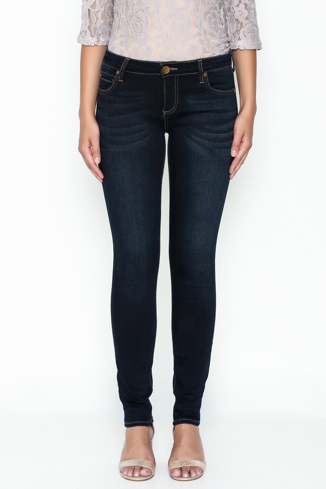 Kut from the Kloth Toothpick Skinny Denim Jeans - Front Full Image