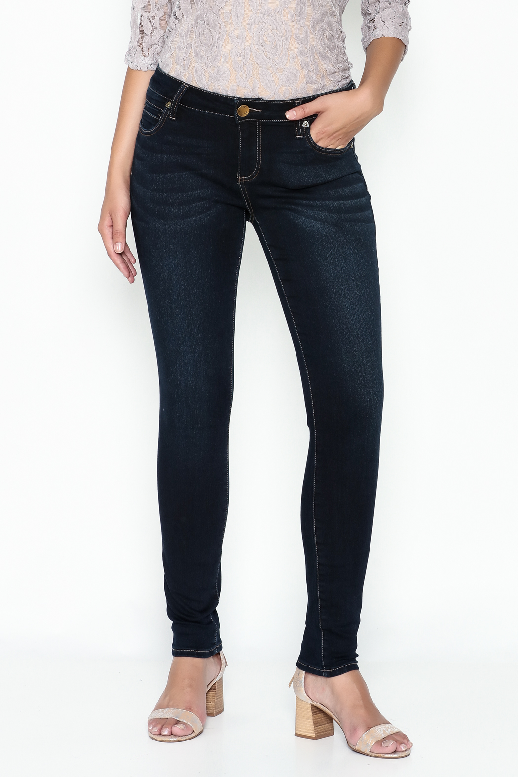 Kut from the Kloth Toothpick Skinny Denim Jeans - Main Image