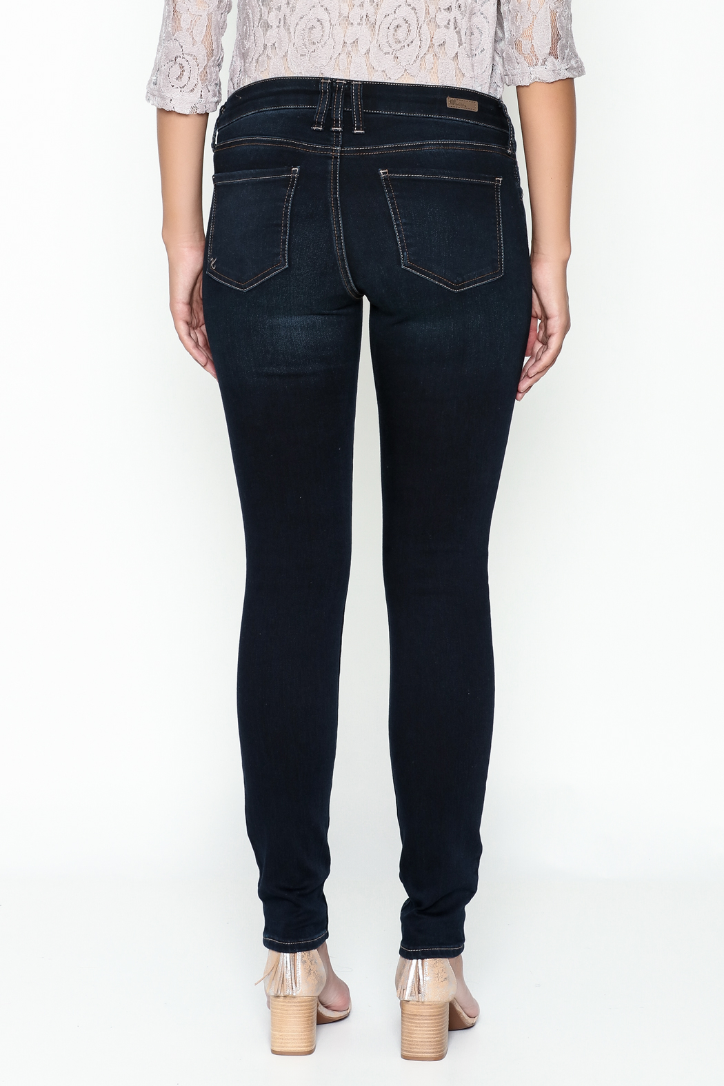 Kut from the Kloth Toothpick Skinny Denim Jeans - Back Cropped Image