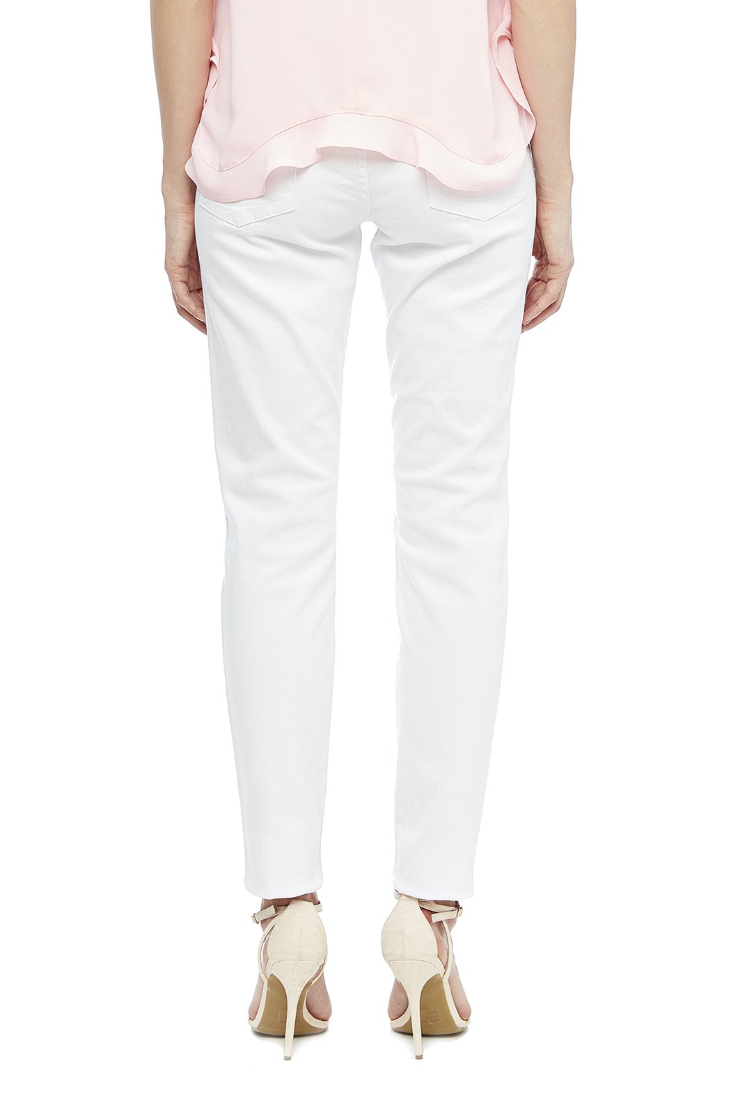 Kut from the Kloth White Skinny Jean - Back Cropped Image