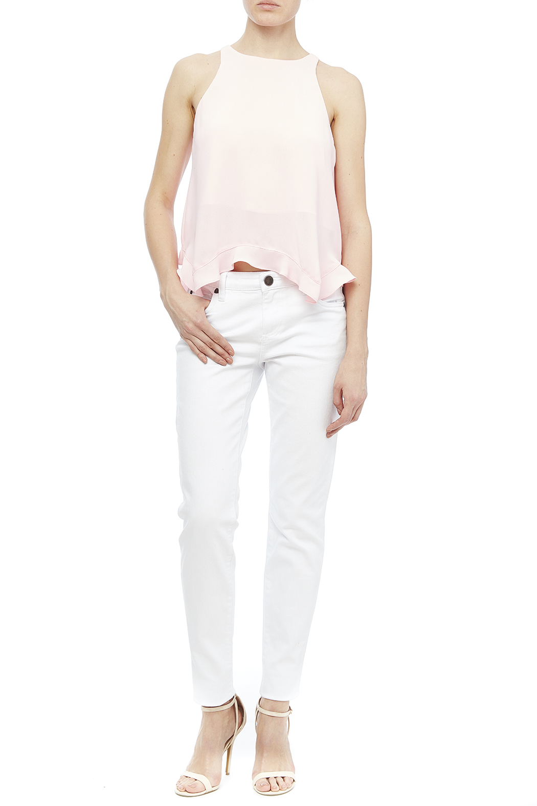 Kut from the Kloth White Skinny Jean - Front Full Image
