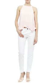 Kut from the Kloth White Skinny Jean - Front full body