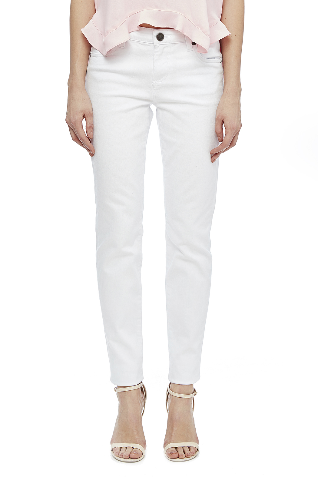 Kut from the Kloth White Skinny Jean - Side Cropped Image