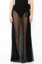 KUT Mesh Coverup Skirt - Front full body