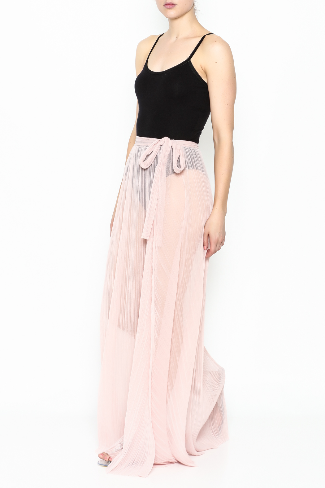 KUT Mesh Coverup Skirt - Side Cropped Image