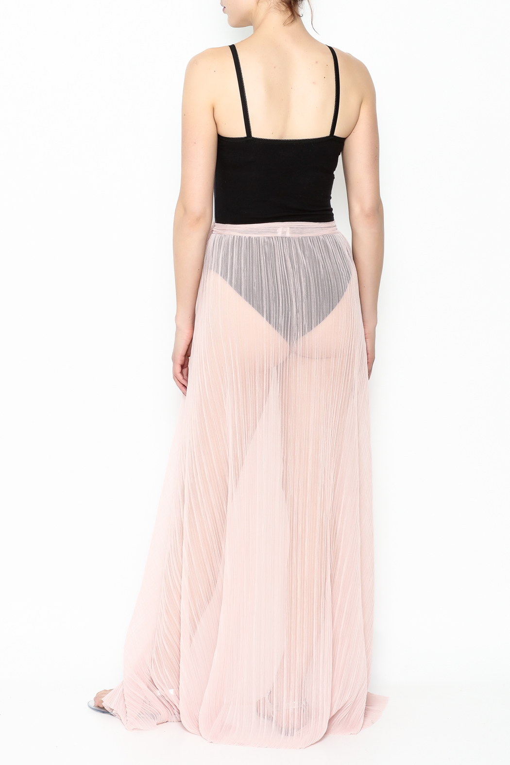 KUT Mesh Coverup Skirt - Back Cropped Image