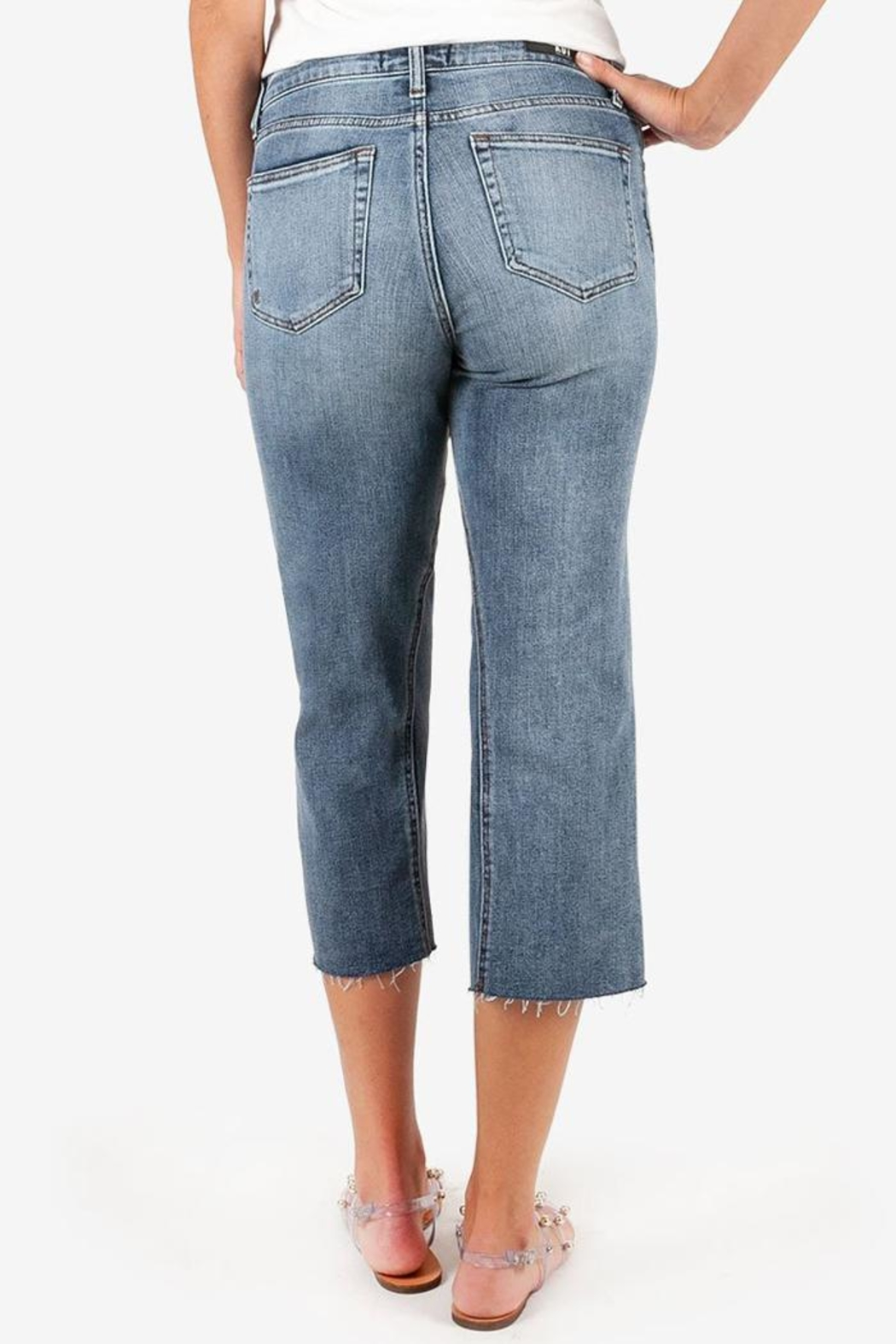 Kut from the Cloth Charlotte Culotte Jean - Side Cropped Image