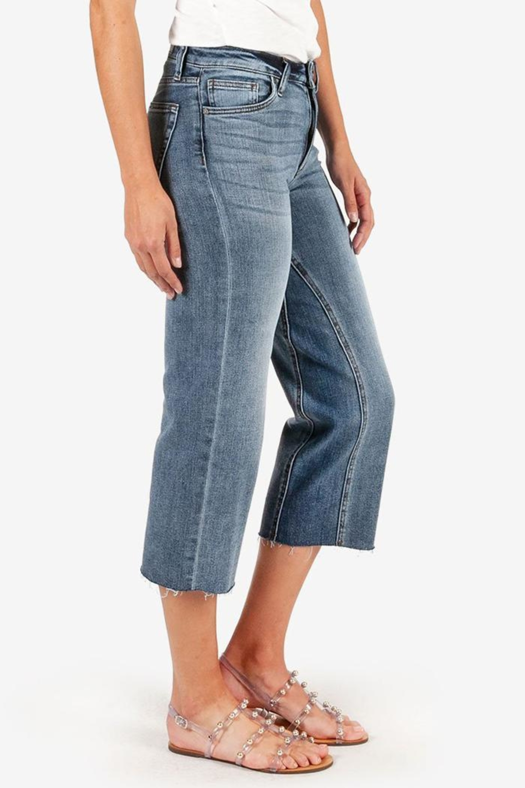 Kut from the Cloth Charlotte Culotte Jean - Front Full Image