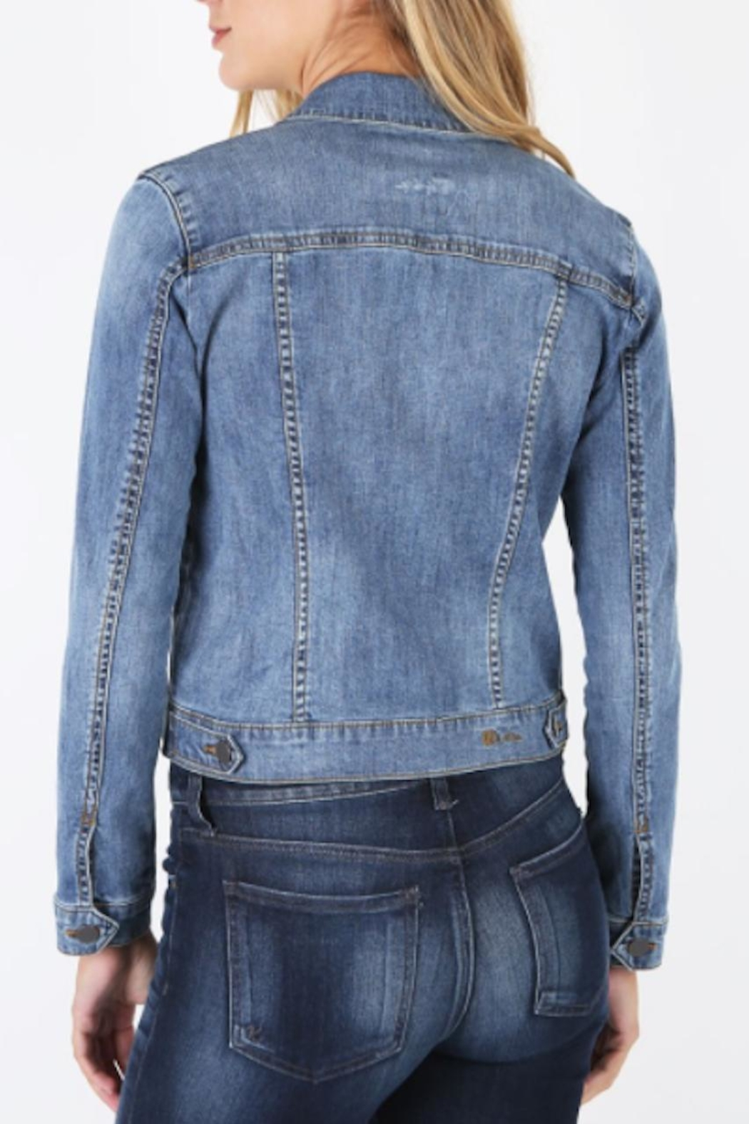 Kut from the Kloth Amelia Denim Jacket - Front Full Image
