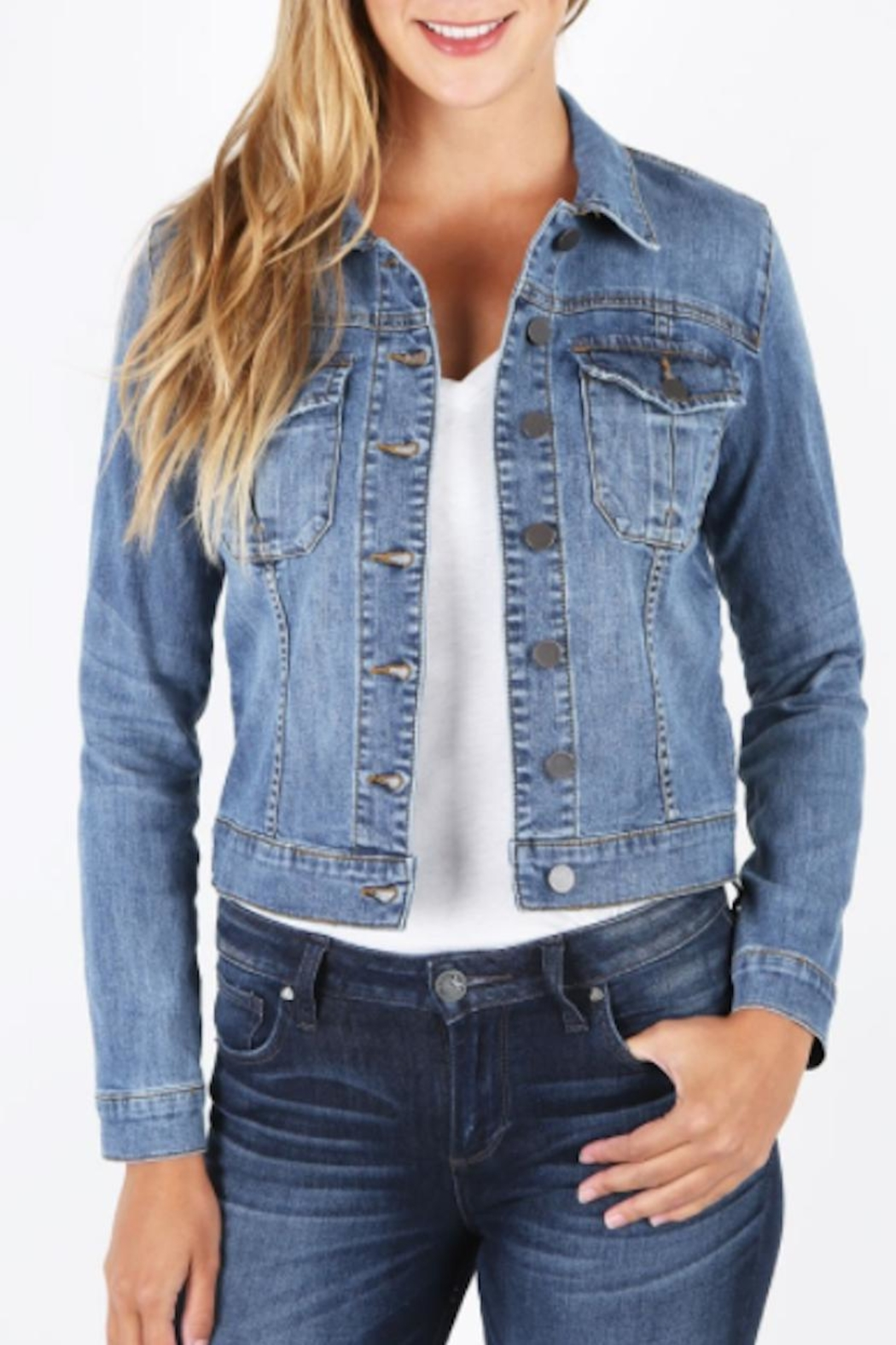 Kut from the Kloth Amelia Denim Jacket - Front Cropped Image