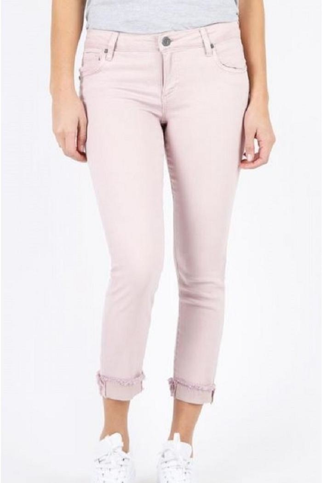 Kut from the Kloth Blush Frayedhem Pant - Main Image