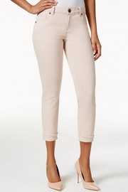 Kut from the Kloth Blush Fringe Jean - Front cropped