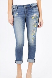 Kut from the Kloth Boyfriend Embroidered Jean - Product Mini Image