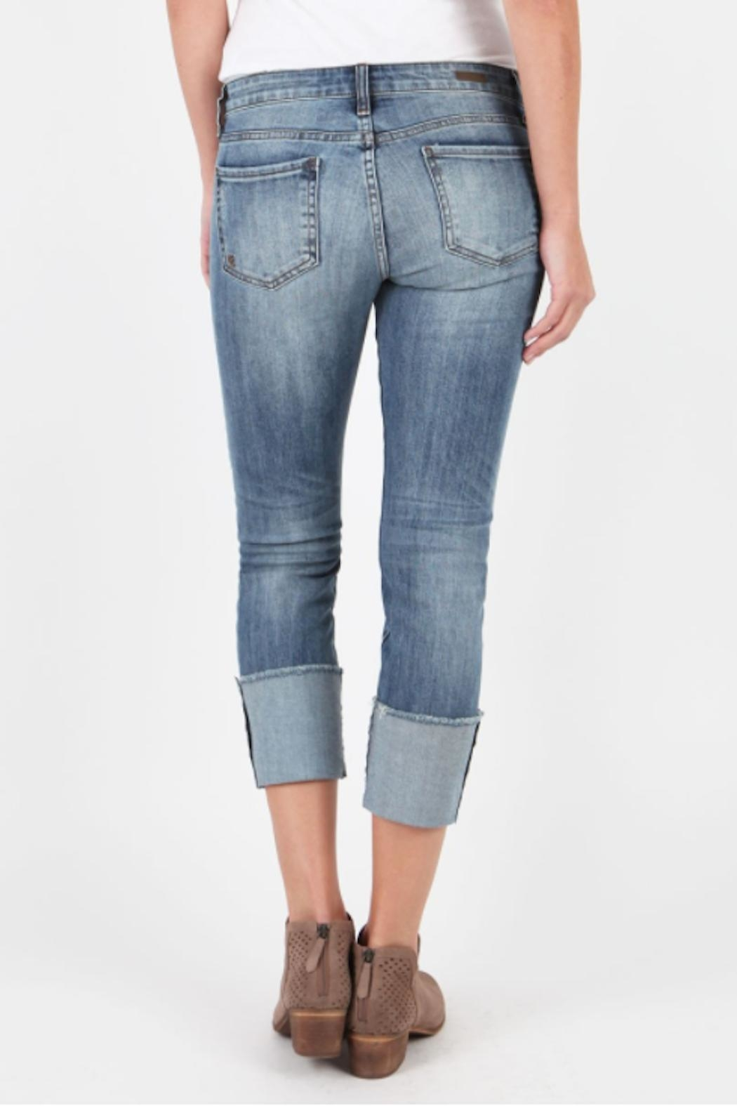 Kut from the Kloth Cameron Wide-Cuff Jeans - Front Full Image