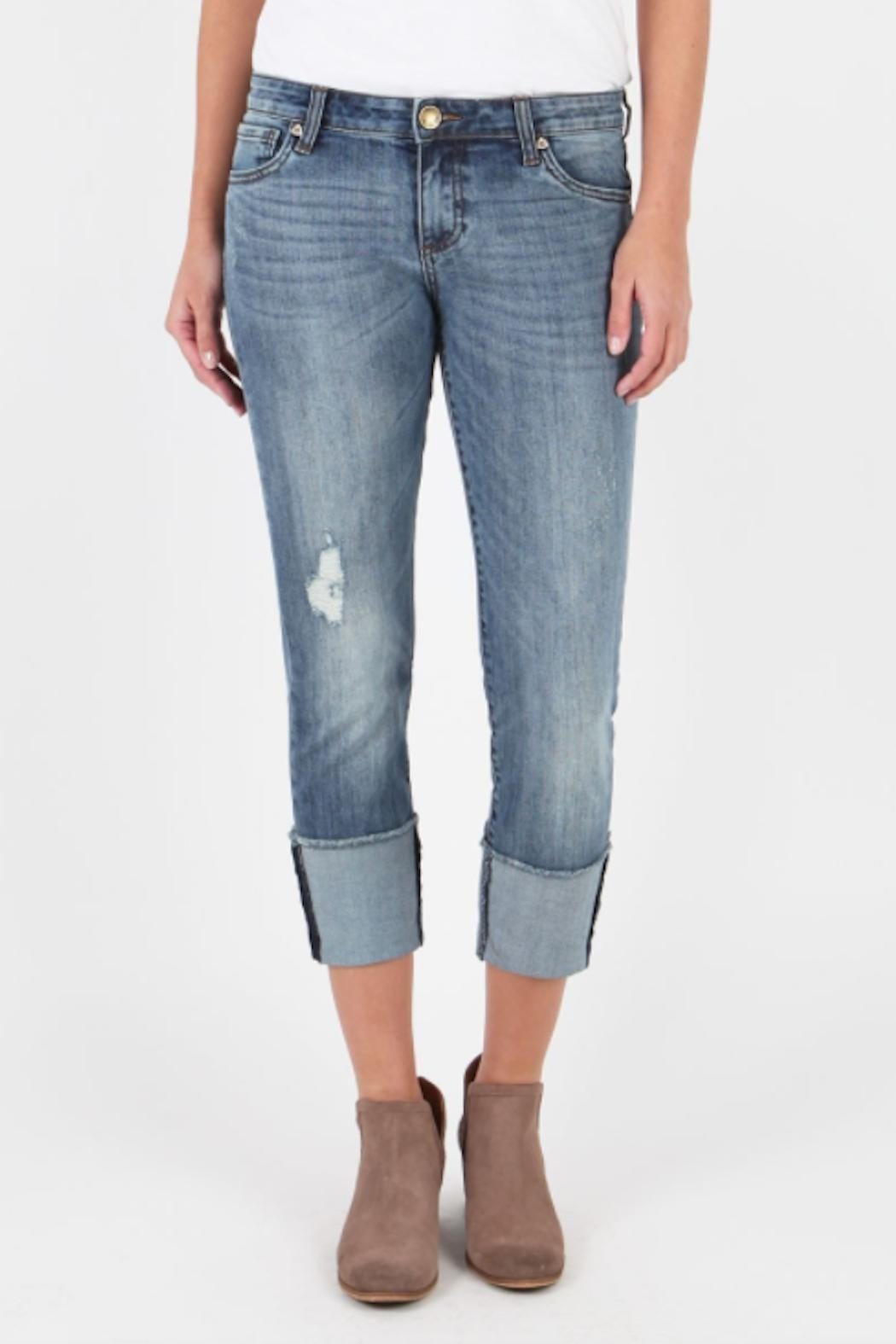 Kut from the Kloth Cameron Wide-Cuff Jeans - Main Image